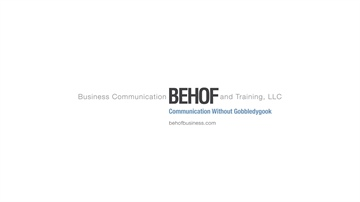 Behof Business Communication and Training, LLC